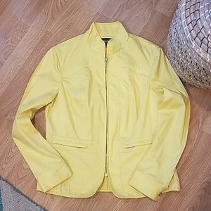 JONES NEW YORK Bright Yellow Lightweight Jacket